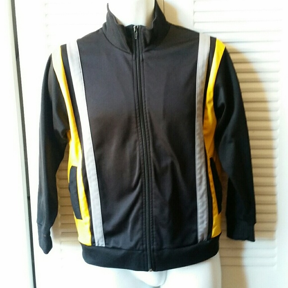 Athletech Jackets & Blazers - Athletech Yellow Black Grey Zip up Jacket